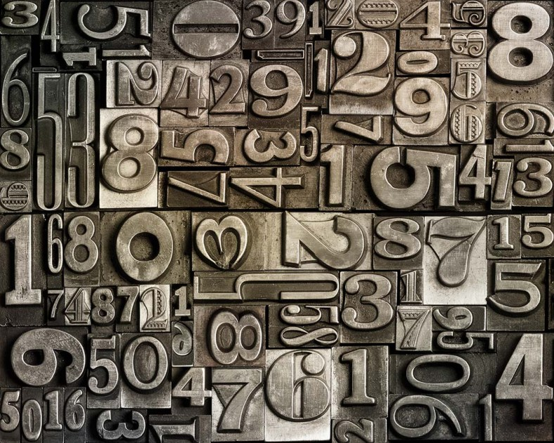 old-typeset-numbers